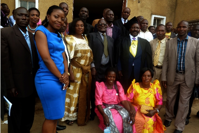 Mbabaali joined by family members and friends after his graduation