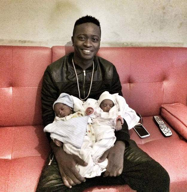 RIP; AK47 with his twins after their birth
