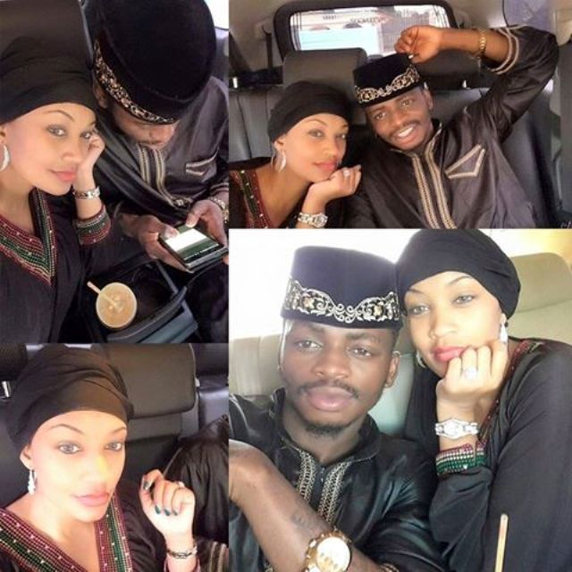 Diamond and Zari posted this picture to wish their fans a happy Easter Holiday