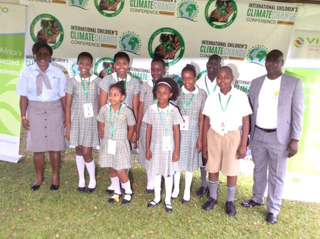 Mirembe Junior school on arrival for the conference