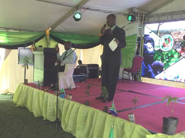 Pius Bigirimana addressing guests