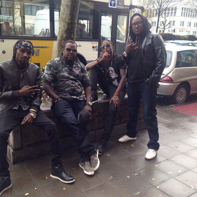 Radio, Chagga, Weasel and Washington in Brussels, Belgium earlier this week