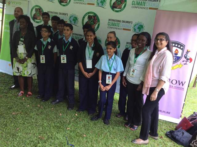 Rainbow International School pupils at the Vivo Energy and Little Hands Go Green - Climate Change Conference at Sheraton Hotel Kampala