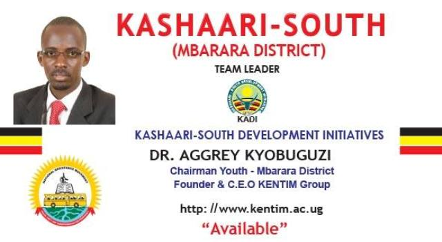 Aggrey Kyobuguzi has also declared his candidature for Kashari South