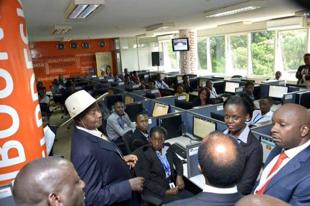 President Museveni launched BPO Incubation Centre, urges youth to use existing infrastructure to create wealth