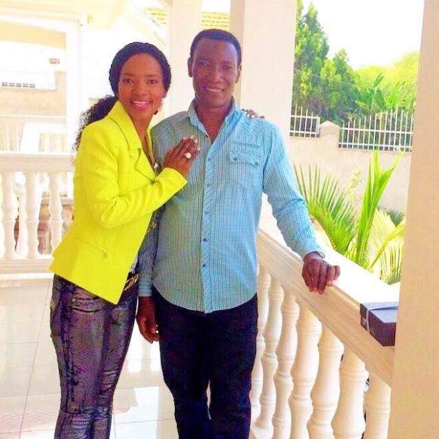 Barbara Kimbugwe with her father