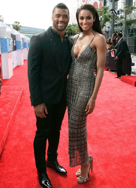 Ciara made her red carpet debut with her beau, Seattle Seahawks quarterback Russell Wilson