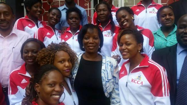 Belinda on the left side next to KCCA ED Jennifer Musisi