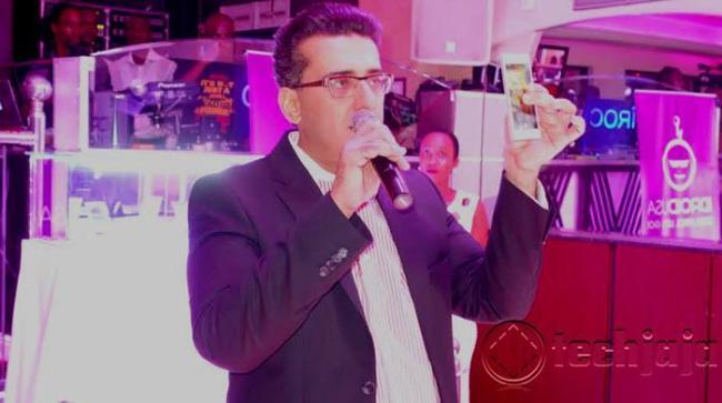 iDROID USA CEO/CO-Founder Jawad Qureshi launching Royal V5 and V4 last night at Guvnor