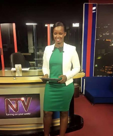 Flavia anchoring news on NTV Uganda
