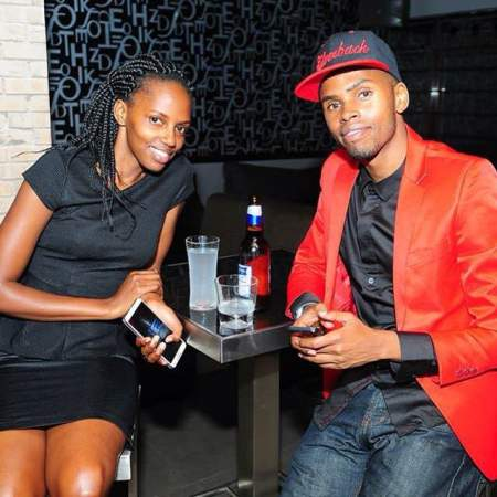 Love In The Air; Alex Muhangi (R) and girlfriend