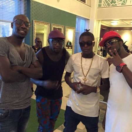 Jose Chameleone (2nd R) and Bebe Cool (R) can only move higher if they support each other