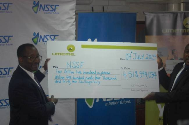NSSF paid 11.5% interest to members last year, and is on course to declare another double digit interest rate this year