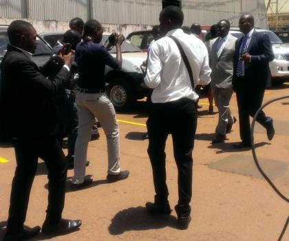 Baryamureeba arrives at EC to pick forms