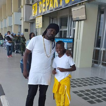 Bebe Cool seeing off his son Alpha