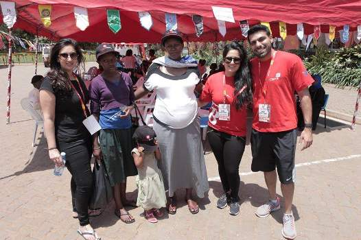 Crane bank team with some of the patients