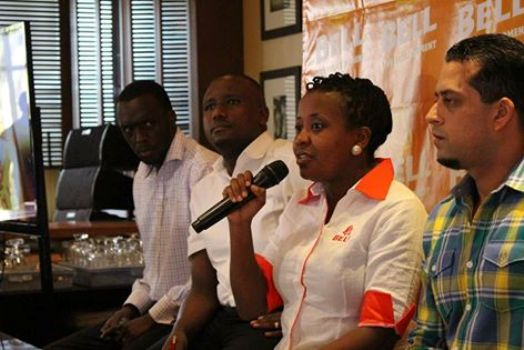 Grace Nshemeire Gwaku Bell Marketing Director making an exciting experience in the  Bell Nation