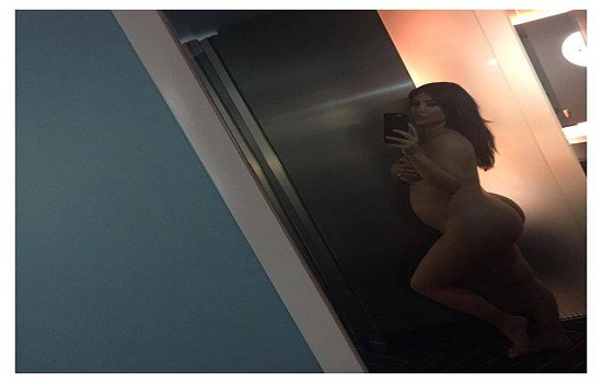 Kim Kardashian posted this photo on her social media pages