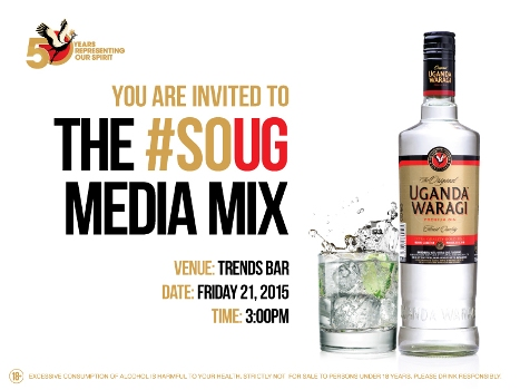 UG Waragi new look will be unveiled today at Trendyz