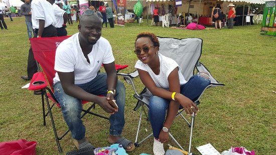 Anne Kansiime with her hubby Ojok