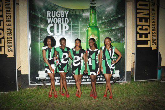 Heineken Brand Ambassadors pose for a group photo