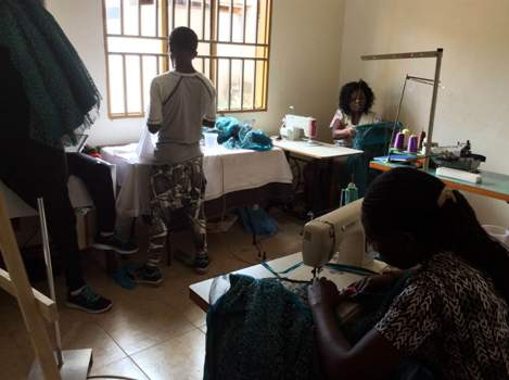 Nambi Clothing & Textiles Company employees busy at work