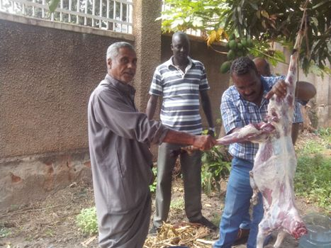 Oryema and his Egyptian bosses gave free meat to Muslims in Ntinda