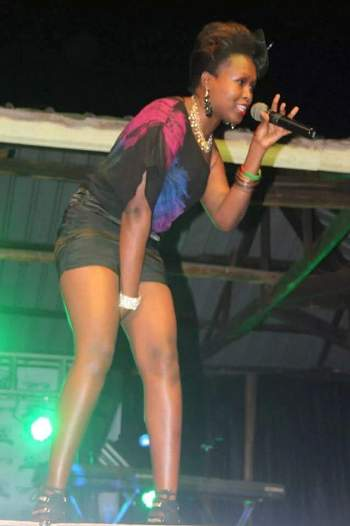 Shanitah during one of her performances