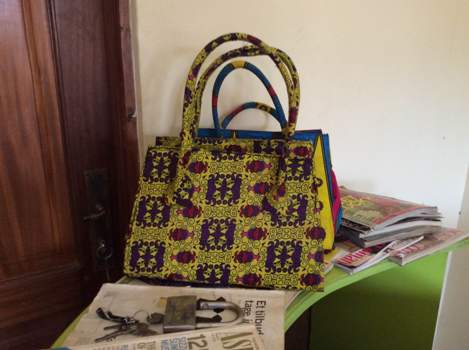 Some of the bags done by Brenda Nambi