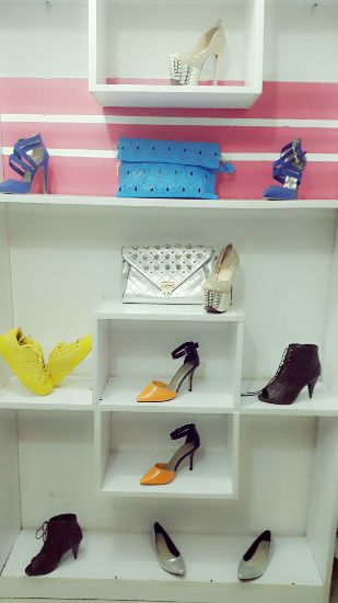 Some of the shoes and bags at Debie Divaz Collection