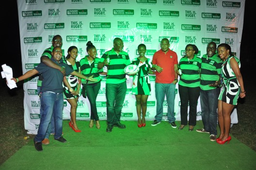 The Heineken team led by the PR Manager Steven Baryevuga take a group photo
