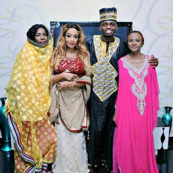 The couple posted a picture with their mothers (Right) is Zari's mother while (Left) is Diamond's mum