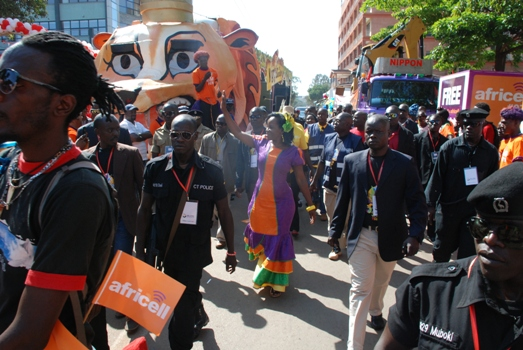 Africell painted the festival orange