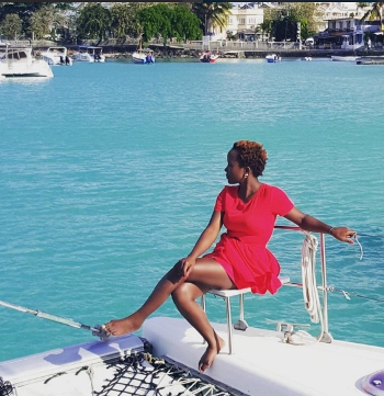 Anne Kansiime enjoys life by the shores of the ocean