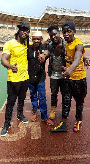Bebe Cool, Haruna Mubiru,  Jose Chameleone at Namboole yesterday
