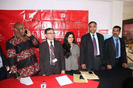 Crane Bank today launched a new product on board. With 170000 agents locations across 150 countries, it's the safest and fastest way to send and receive money instantly in the  world