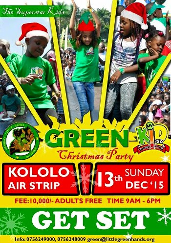 Green Christmas party is on 13th December 2015 at Kololo Airstrip.. Be there with your kids