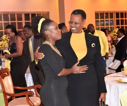 Juliana Kanyomozi and First Lady Janet Museveni