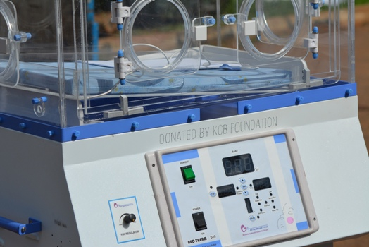 One of the neonatal incubators KCB donated to Mbale Regional Referral Hospital