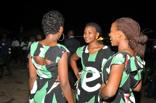 Smart looking ushers during the launch