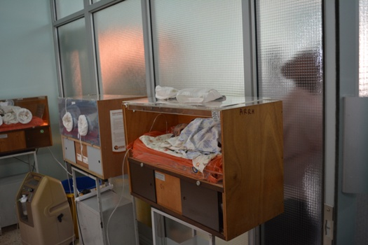 Some of the babies that will benefit from the new and better neonatal incubators The hospital had 5 wooden incubators where only 3 are functional