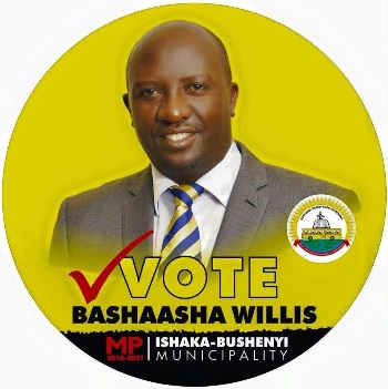 Willis Bashaasha is in the lead according to opinion polls