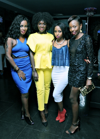 Leila Kayondo, a friend, Asma Uwase and a friend at Cayenne on Friday