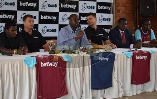 Members of Betway and Kobs during a presser today at Legends