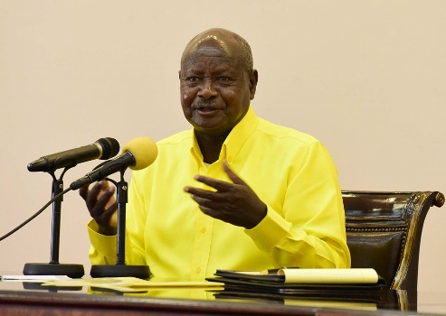 President said his rivals in the race cant manage Uganda