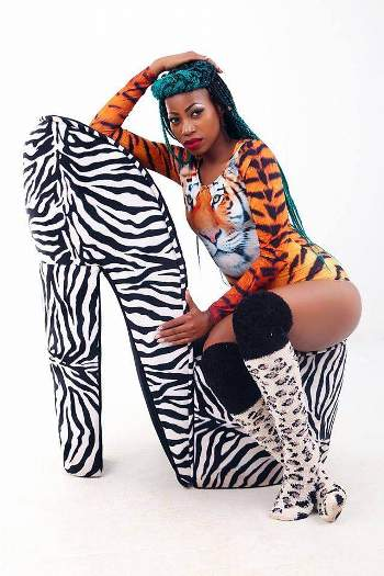 Sheebah was in a photo form as she posed