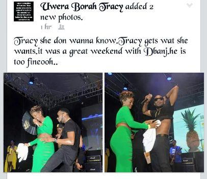 Tracy Borah posted on her social pages that D'banj is so nice