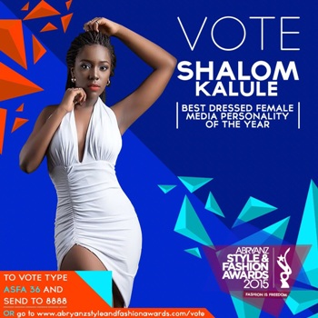 You can vote for Shalom Kalule