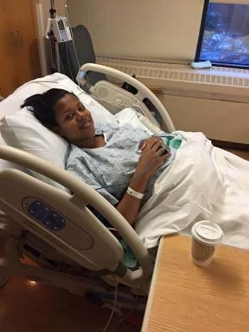 Zuena gave birth to a baby boy