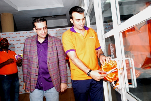 Africell Commercial Director Milad Khairallah opening the brand New State of the art Africell Store at Forest Malad